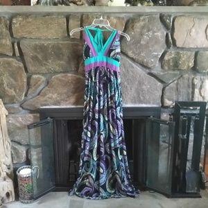 Candies paisley halter maxi dress medium